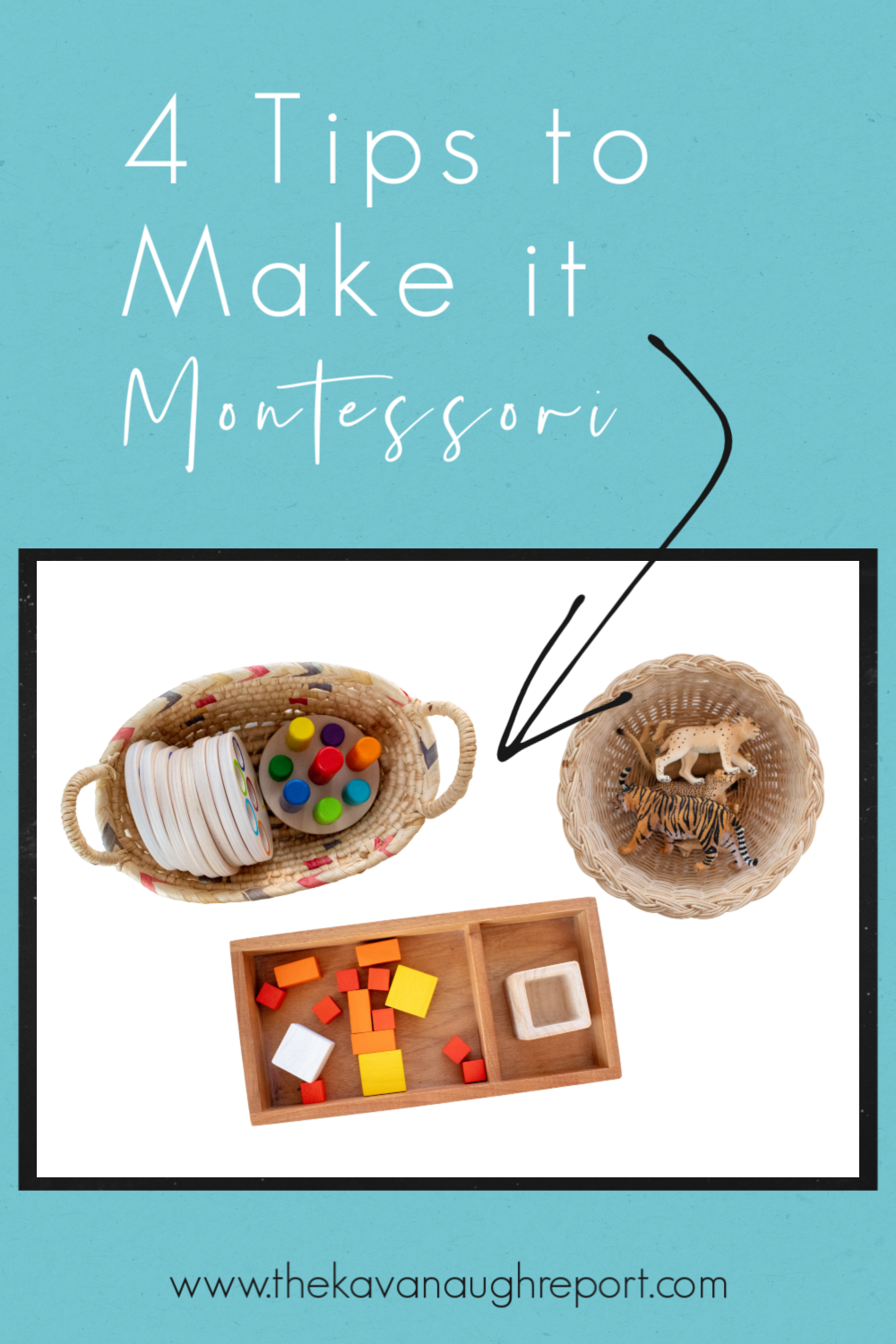 4 simple tips to present common toys and games in a Montessori way