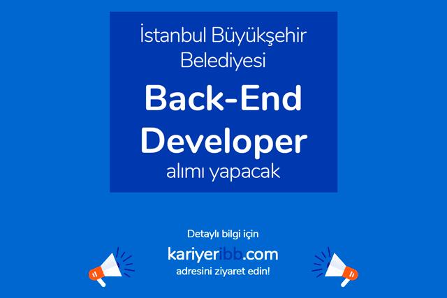 İstanbul Büyükşehir Belediyesi İSBAK A.Ş. back-end developer alımı yapacak. İBB iş ilanı hakkında tüm detaylar kariyeribb.com'da!