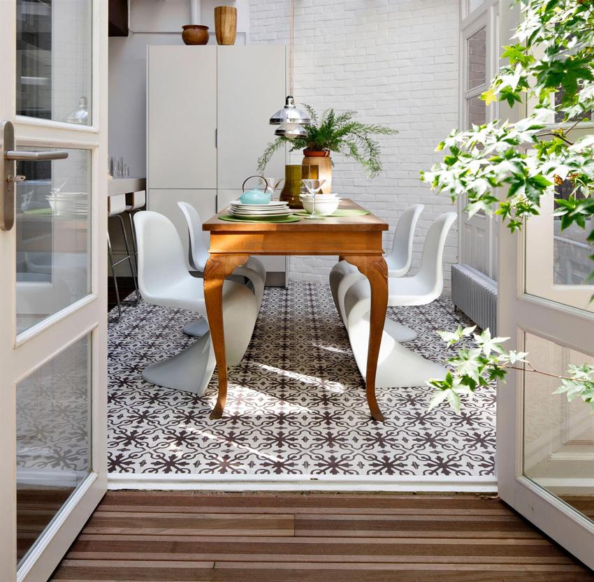 pavimento cocina hidráulico