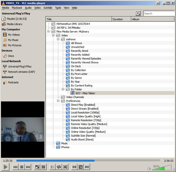EyeTV3 n Plex, Using VLC as a DLNA client - John Willis