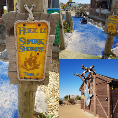 Sharks at Pirate Cove Adventure Golf in Aberavon, Port Talbot