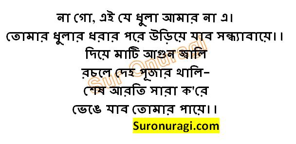 Na Go Ei Je Dhula Amar Na E Lyrics (না গো এই যে ধুলা আমার না এ)