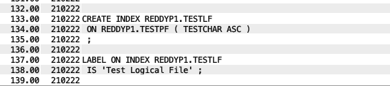 Generate SQL - IBM i