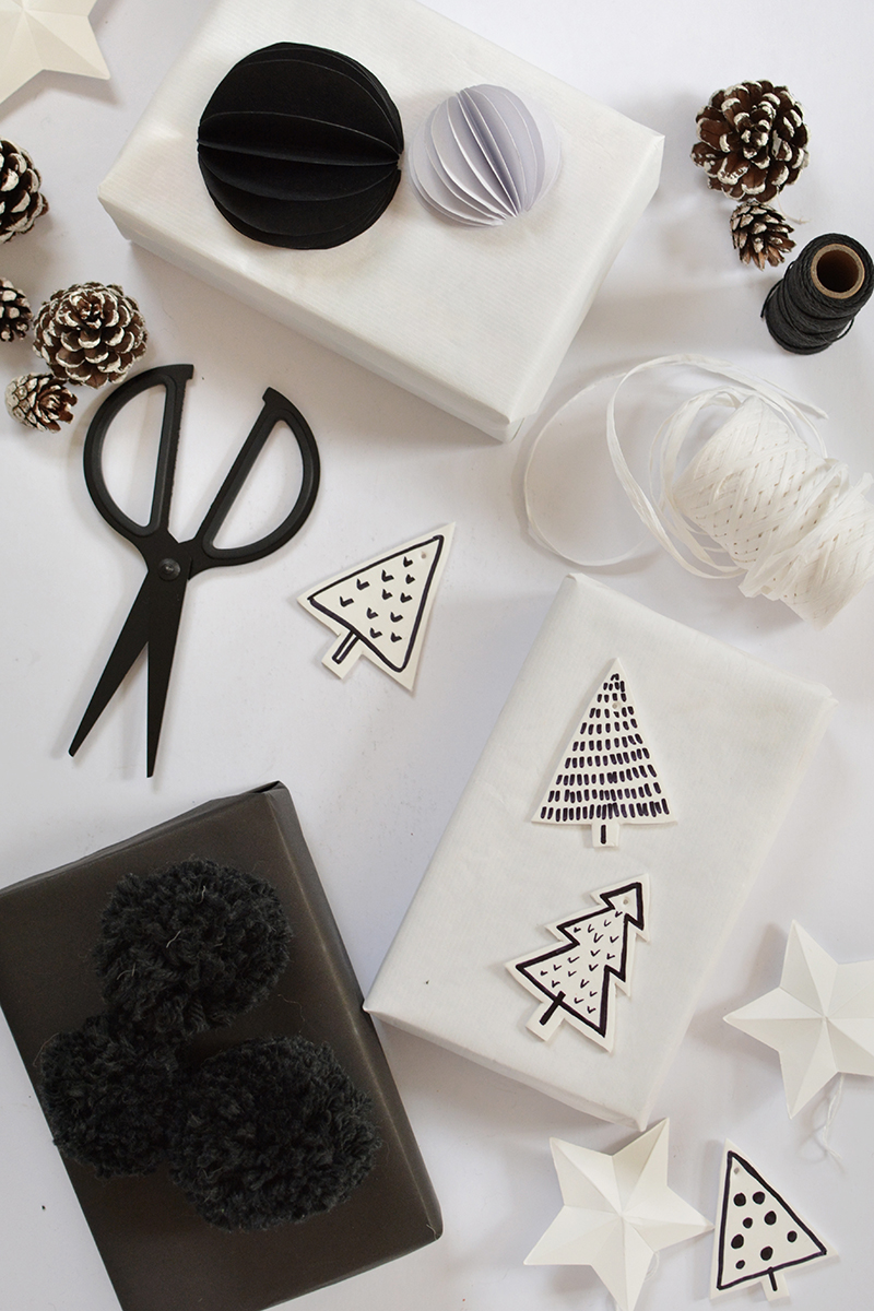 diy modern christmas gift toppers