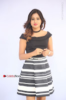 Actress Mi Rathod Pos Black Short Dress at Howrah Bridge Movie Press Meet  0025.JPG