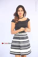 Actress Mi Rathod Pos Black Short Dress at Howrah Bridge Movie Press Meet  0025.JPG
