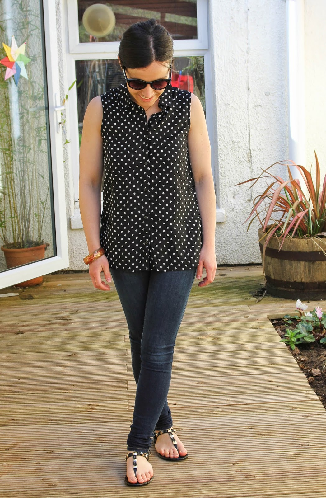 b5525f57c0f9 Side Street Style  Polka Dots and Jelly shoe Giveaway