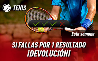 sportium Tenis: Combinadas con seguro hasta 16 febrero 2020