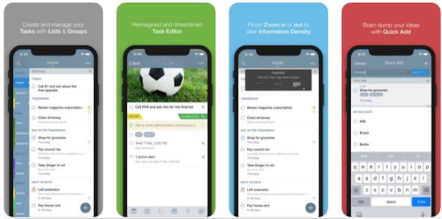 تطبيق 2Do – Reminders & Personal Planner لأداء للمهام