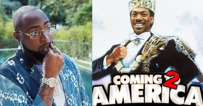 Davido invited to view his Hollywood debut movie, 'Coming 2 America'