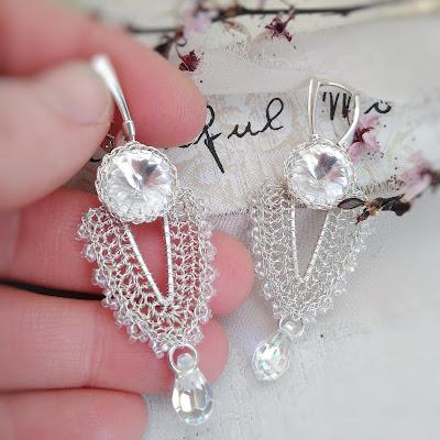 biżuteria ślubna kolczyki