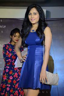 Disha Pandey in cute blue short tight Dress Ramp Walk Spicy Pics