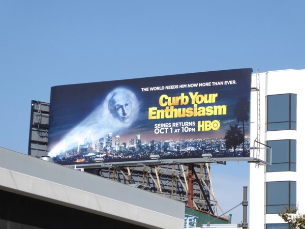 Curb Your Enthusiasm season 9 billboard