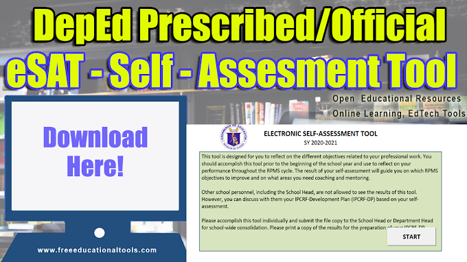 Download DepEd Official/Prescribed eSAT (Electronic Self-Assessment Tool)