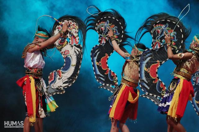 Sekda Trenggalek, Buka Festival Jaranan Terbuka Kabupaten Trenggalek Tahun 2019