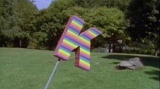 In a film, Ornate K spins around. Sesame Street Alphabet Songs