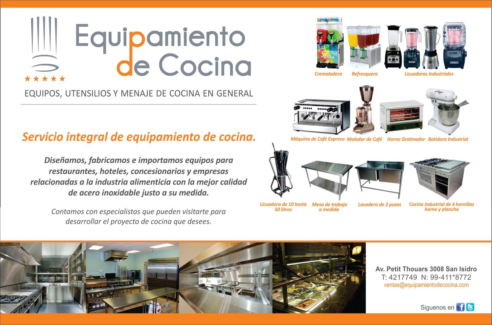 Equipamiento de cocina - Utensilios de cocina industrial ...