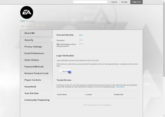 keep your EA account secure