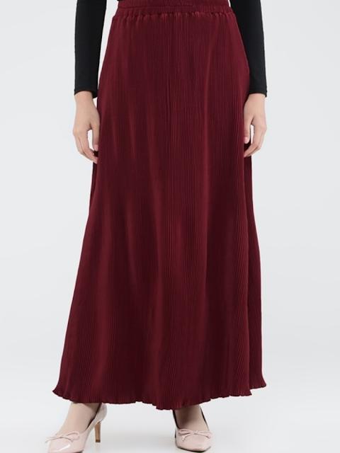 Plisket A-line skirt