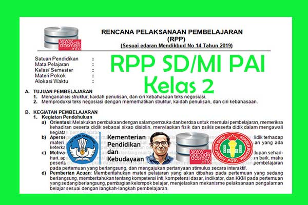RPP 1 Lembar PAI SD/MI Kelas 2 Semester 2, Download RPP 1 Halaman PAI Kelas 2 Kurikulum 2013 SD/MI Semester 2 Revisi Terbaru, RPP Silabus PAI 1 Halaman Semester 2 Kelas 2