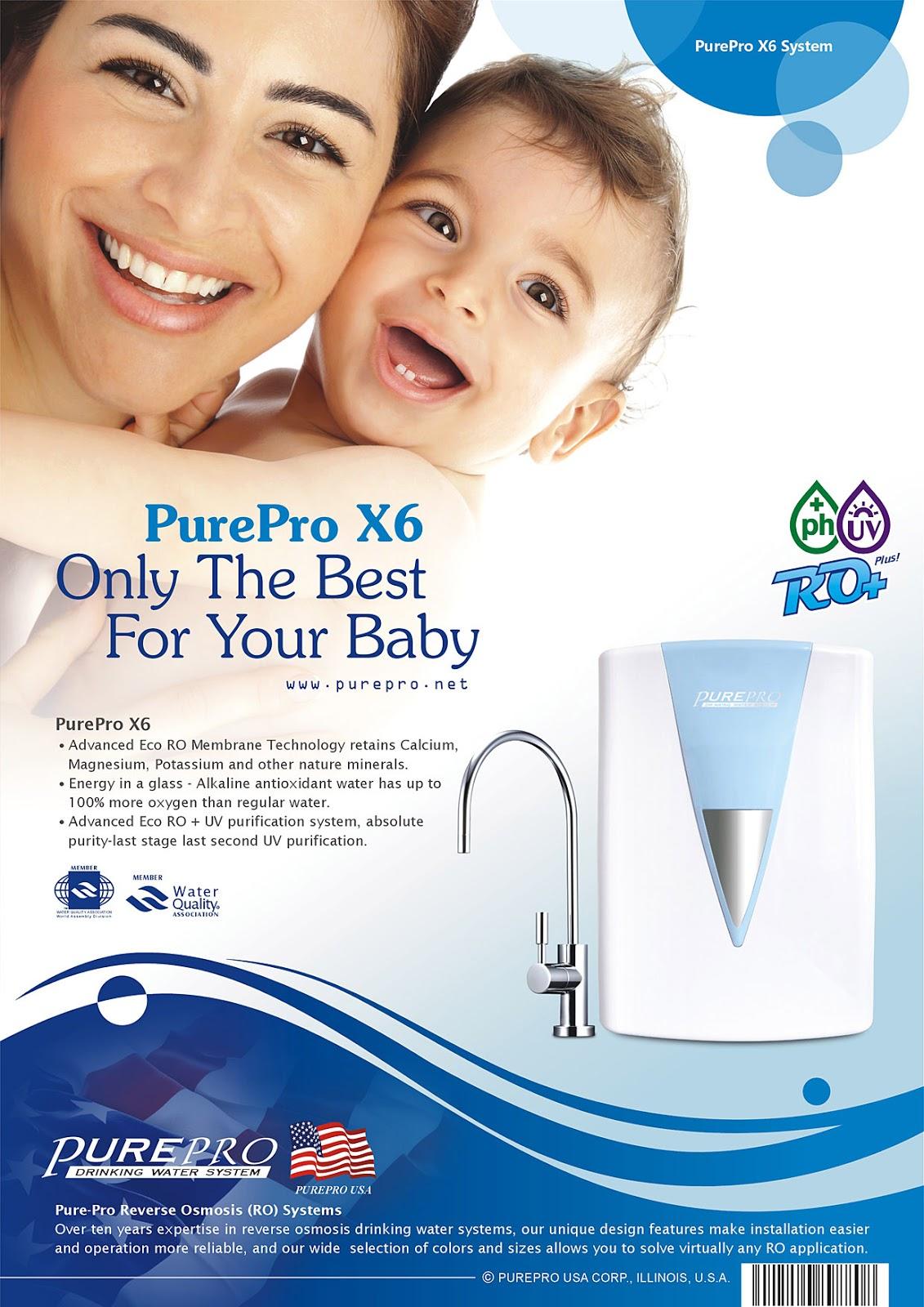 美國PurePro® X6 紫外線鹼性RO活水機 -年度最夯淨水器: 美國PurePro® X6 (蒂芙尼藍)