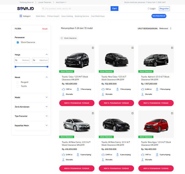 Seva Mobil Bekas Stock Clearance
