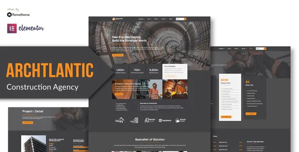 Best Construction Agency Elementor Template Kit