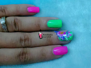 How to apply transfer foil nail art