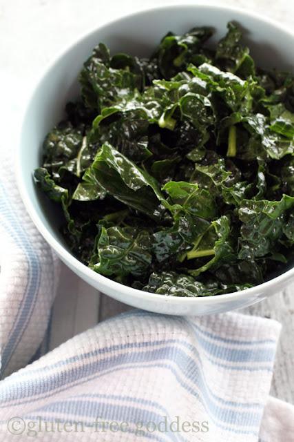 kale massaged with olive oil