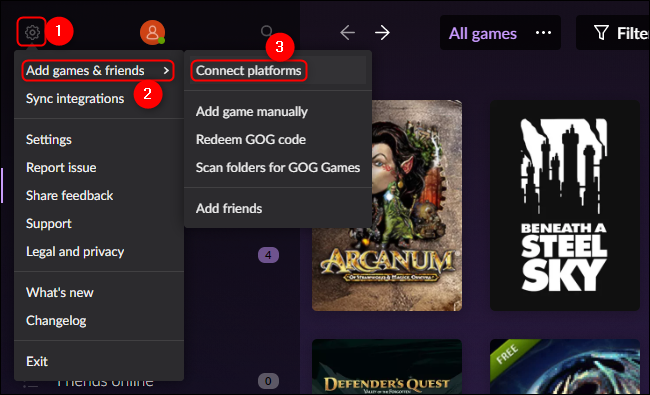 منصات GOG Galaxy Connect