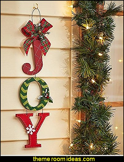 Joy Christmas Door or Wall Hanger Decoration