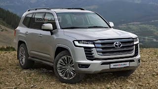 Unofficial rendering of the face of the new generation Toyota Land Cruiser has been released