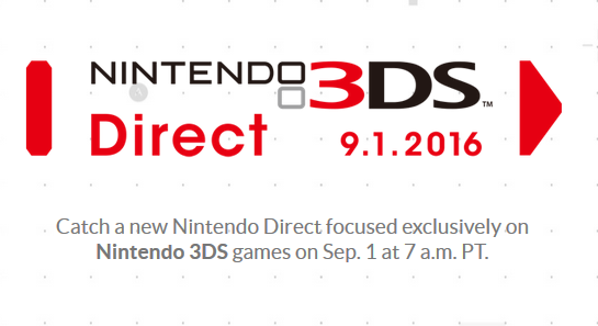 Nintendo Direct 3DS September 1 2016 exclusive