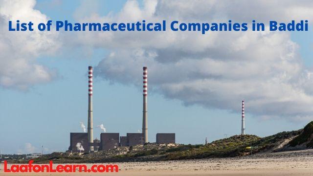 Pharma companies at Baddi |
