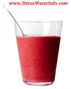 Detox Raspberries Flax seed spinach smoothies recipe