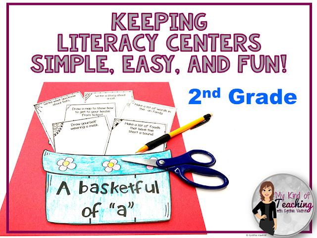 No Prep literacy centers for 2nd grade
