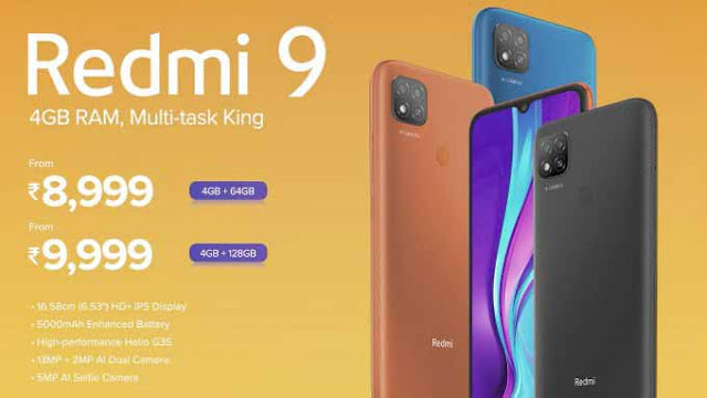 Redmi 9 Launched in India Price, Specifications