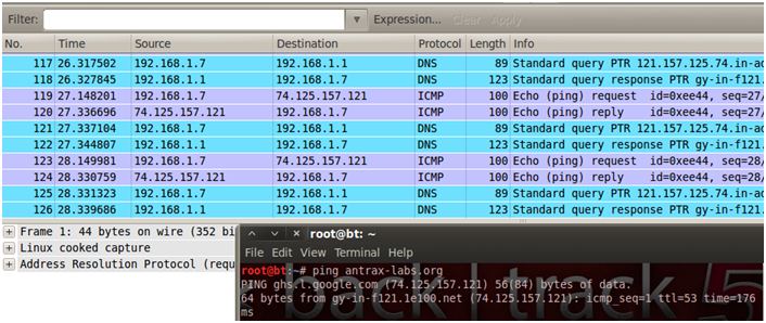 Sniffing con Wireshark 23