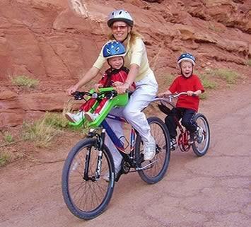 child bike seat bike trailer