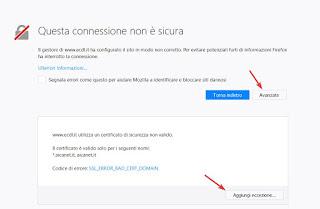 Firefox Eccezione browser