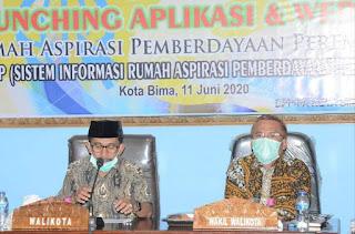 Dinas PP dan PA Launching Aplikasi SIRAP dan Website Rumah Aspirasi