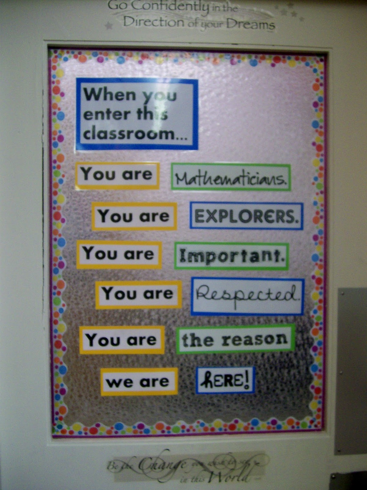 Math love classroom pictures 2013 for Back to school decoration ideas for teachers