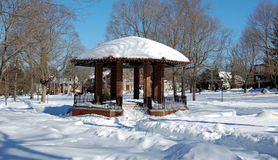 Town Common covered in snow