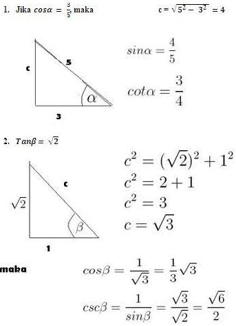 Contoh Soal Trigonometri Lengkap Matematrick