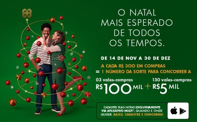 Promoção Natal 2020 Shopping Anália Franco Vales-Compras 5 Mil e 100 Mil Reais