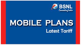 BSNL Mobile Plans Latest 2G 3G Tariff