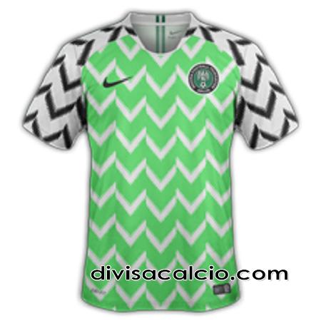divisacalcio2: prima divisa maglia nigeria 2018-2019