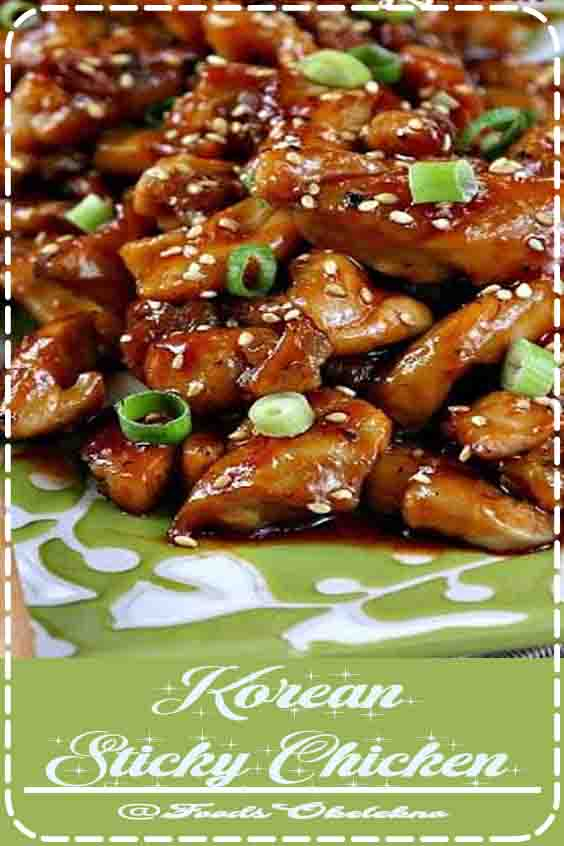4.1 ★★★★★ |Very delicious!! Goes great with kimchi and seaweed. Family of 4 loved it (both kids under 5). super quick and easy. #Korean Sticky Chicken #Simple #Asian #Chicken #Recipes