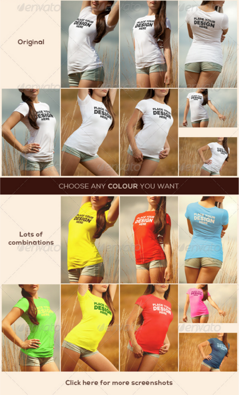 17. Women's T-Shirt Mockup