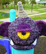 http://www.ravelry.com/patterns/library/purple-people-eater-hat-2